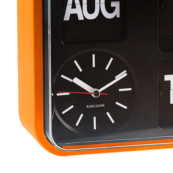Karlsson Mini Flip Wall Clock Orange Multi Purpose Clock