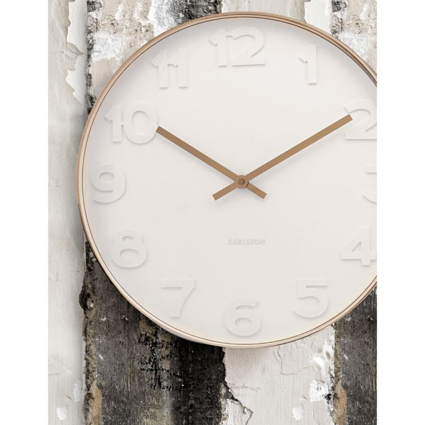 Large White Clock Part - 20: Red Candy