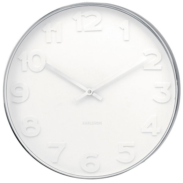 Exceptional Large White Clock Part - 2: Red Candy