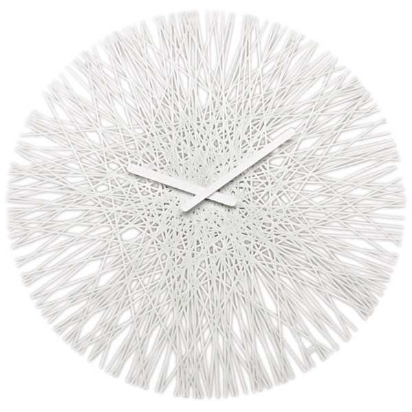 Gomitolo Clock Red - cotton knitted clock - 2 Sizes