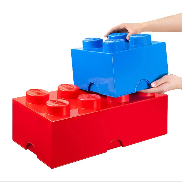 lego storage brick dark blue 2 sizes available red candy. Black Bedroom Furniture Sets. Home Design Ideas