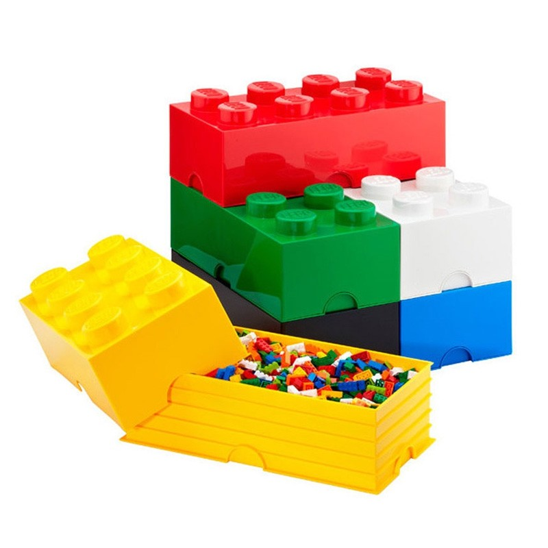 Lego Storage Brick White 2 Sizes Available Red Candy