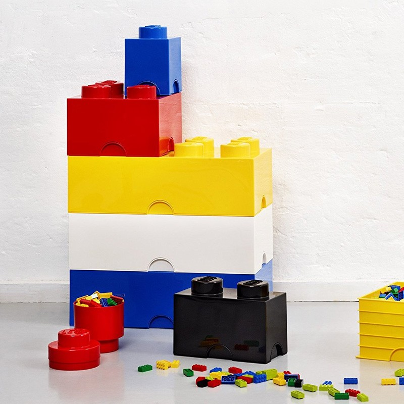 Lego Storage Brick Yellow 2 Sizes Available Red Candy
