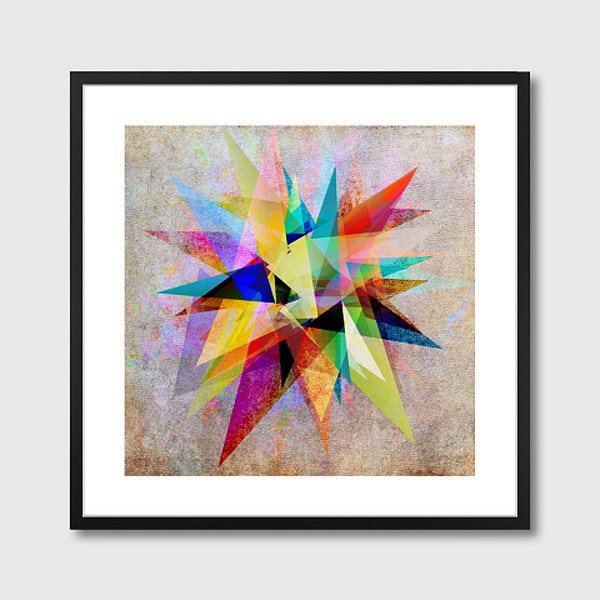 Colorful 2 Framed Art Print Abstract Vector Wall Art