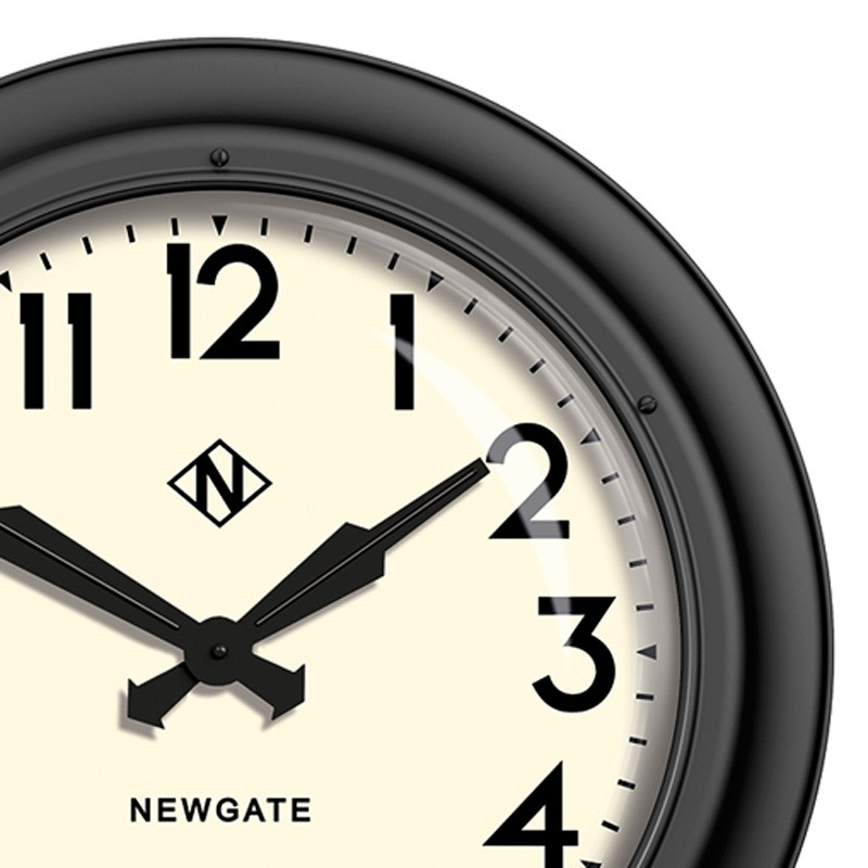 Newgate 50s Electric Wall Clock White Red Candy