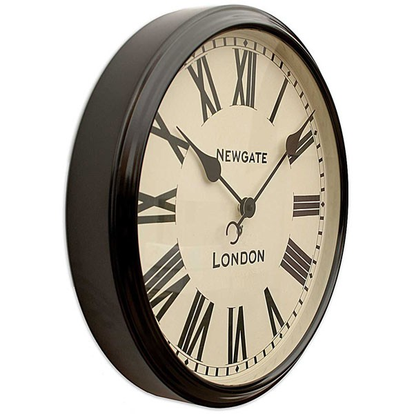 Newgate battersby clock black classic wall clock for Newgate battersby wall clock