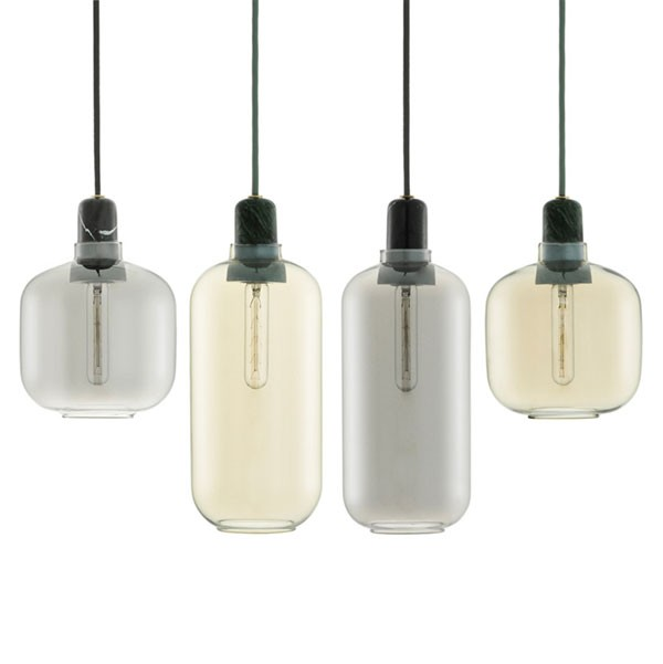 including marble black clear glass pendant one light