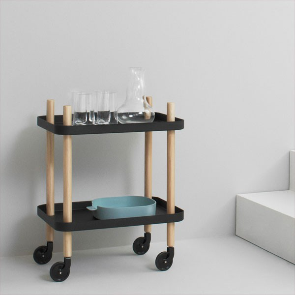 normann copenhagen block table dark grey modern trolley style table. Black Bedroom Furniture Sets. Home Design Ideas