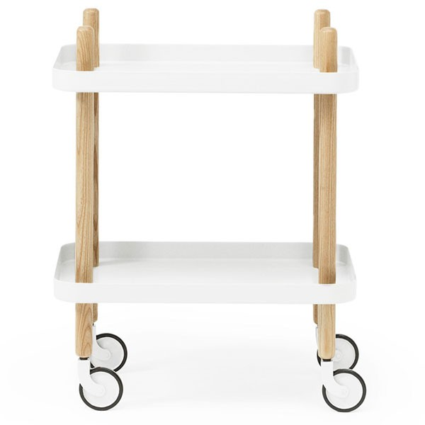 normann copenhagen block table white trolley side table. Black Bedroom Furniture Sets. Home Design Ideas