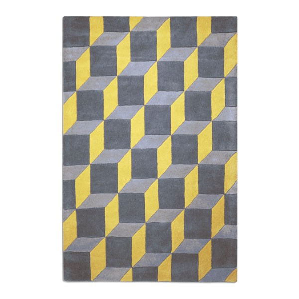 Geometric Rug Yellow Red Candy
