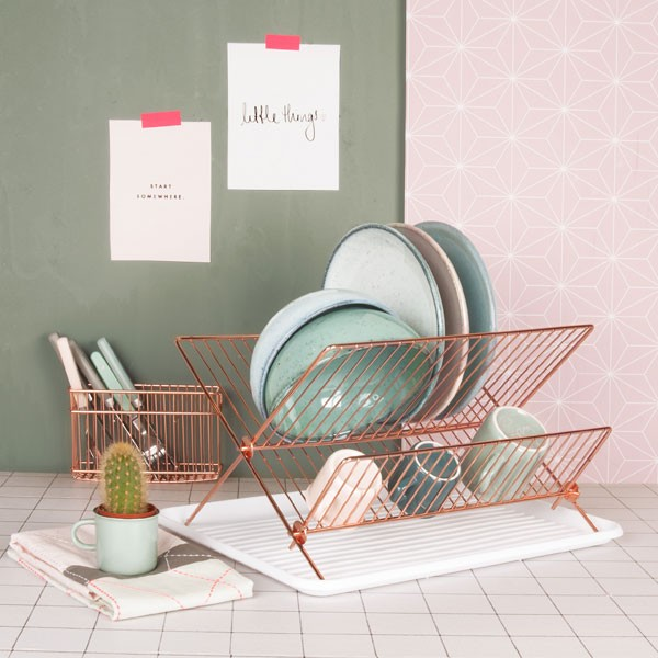 Copper Wire Dish Rack Red Candy