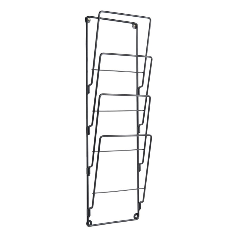 Wire Wall Magazine Rack (Black) - Red Candy