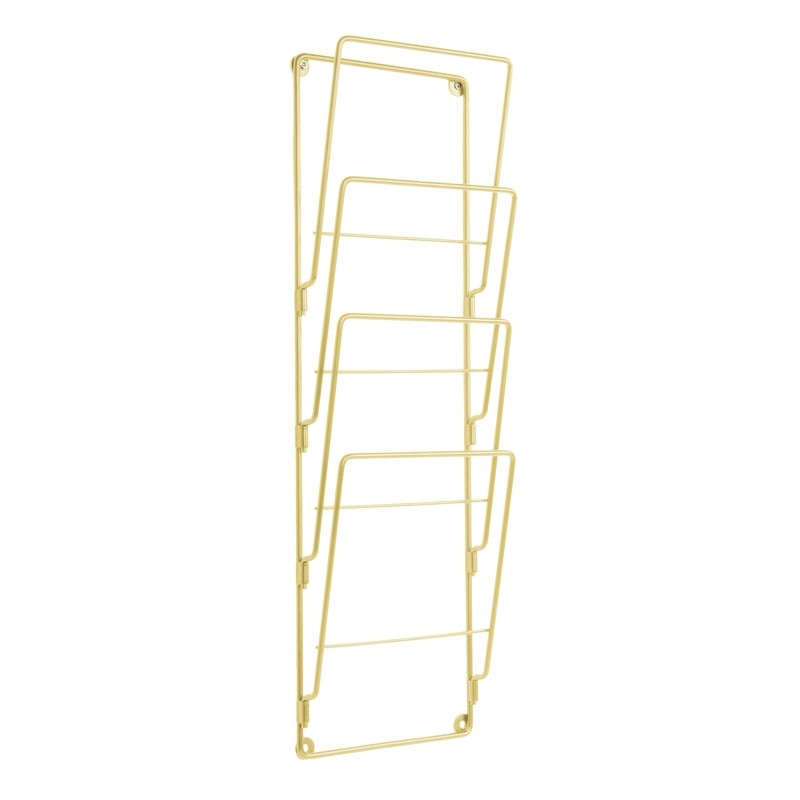 Wire Wall Magazine Rack - Gold
