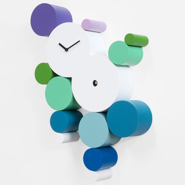 Back Nature Contemporary Cuckoo Clock - white funky wall clock