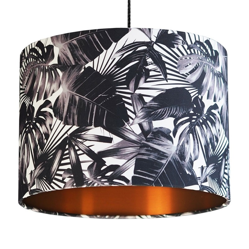 Black And White Cheese Plant Lampshade Copper Red Candy
