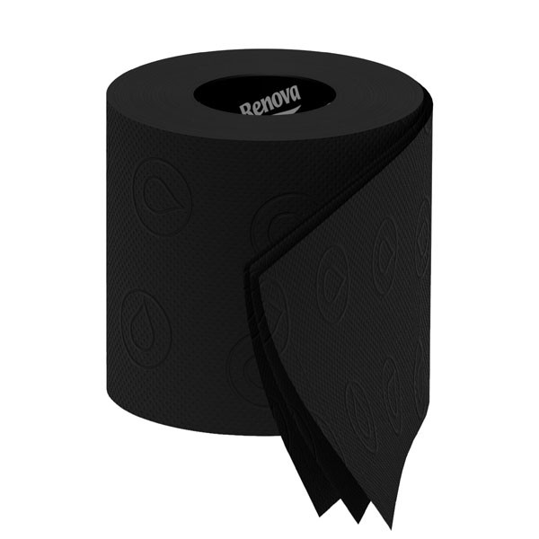 Black Toilet Paper - Renova Tissue - black toilet roll