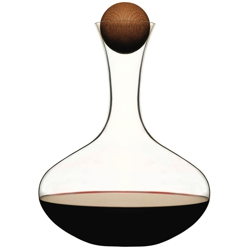 Sagaform Water Carafe with Oak Stopper - Oval Oak