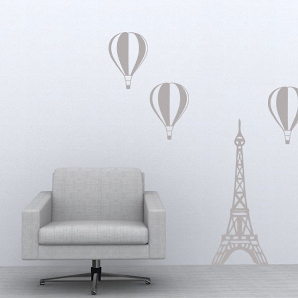 Paris balloon wall sticker red candy