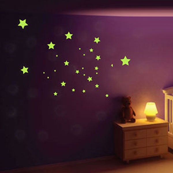 Glow In The Dark Star Mix Wall Stickers Red Candy