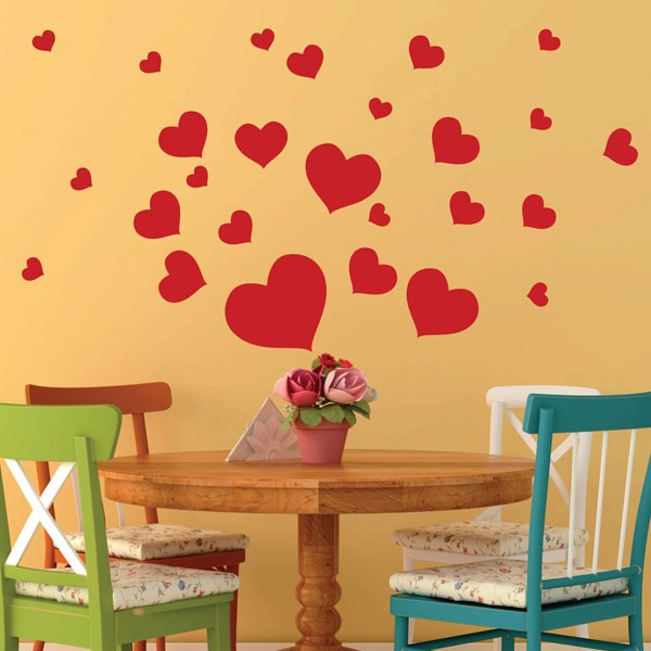 heart wall stickers love wall decor wall decals canada big heart small hearts wall stickers