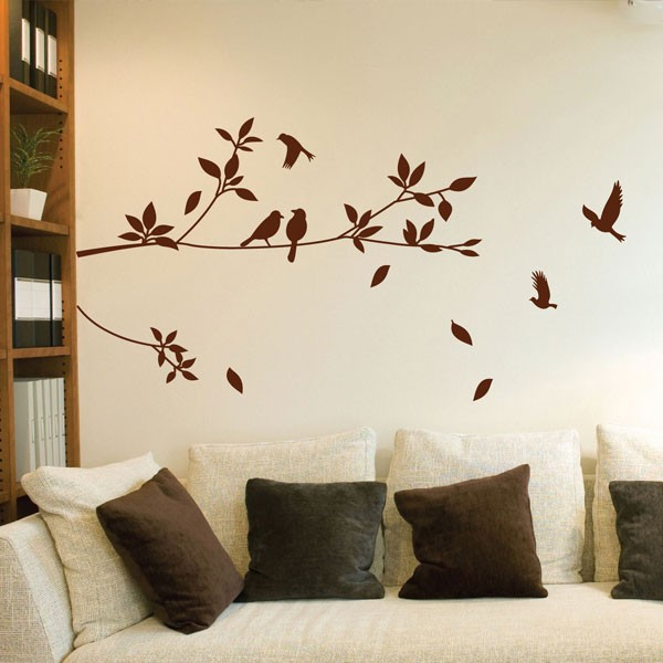stylish tree and bird wall sticker nature wall decor stylish daisy pattern wall sticker for bedroom livingroom