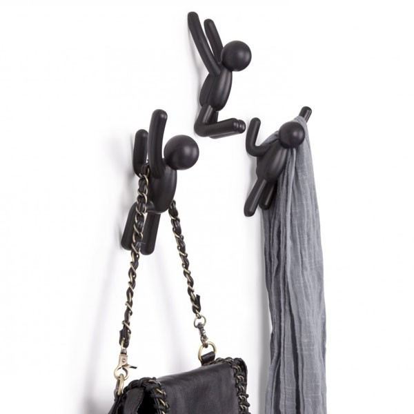 umbra buddy hooks in black black novelty clothes hooks