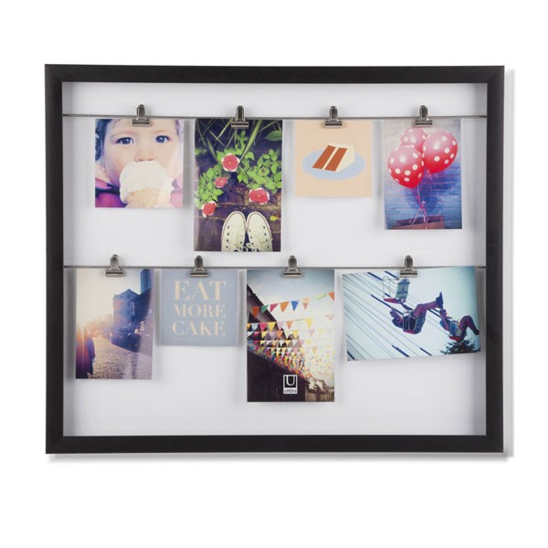 Layered Collection Photo Frame - 8 in 1 - silver multi frames