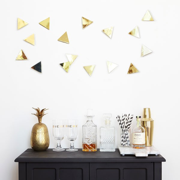 Hive Wall Decor Umbra : Umbra confetti triangles wall decor brass geometric