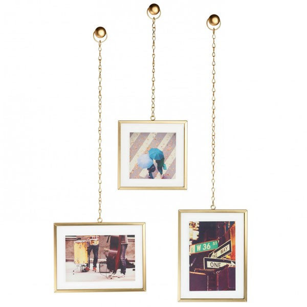 umbra fotochain photo display brass hanging photo frames
