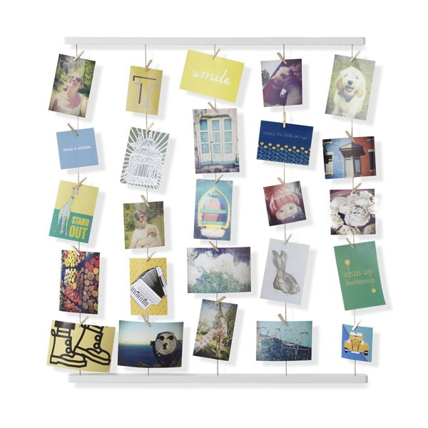 Umbra hangit photo display designer hanging photo frame for Cadre photo mural ikea