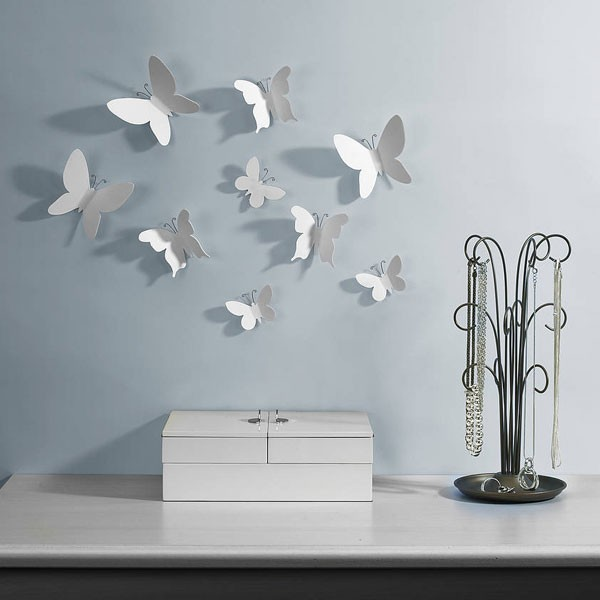 Umbra mariposa wall decor set of 9 red candy