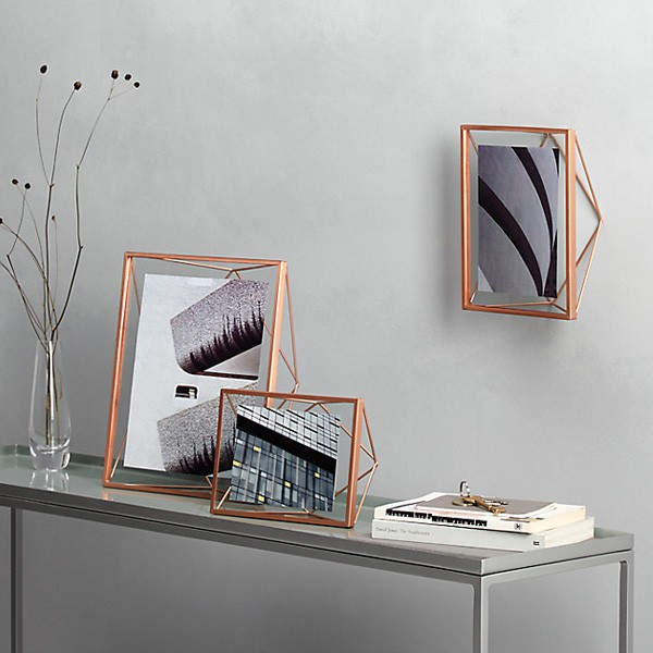 Umbra Prisma Photo Frame 4x4 Copper Red Candy