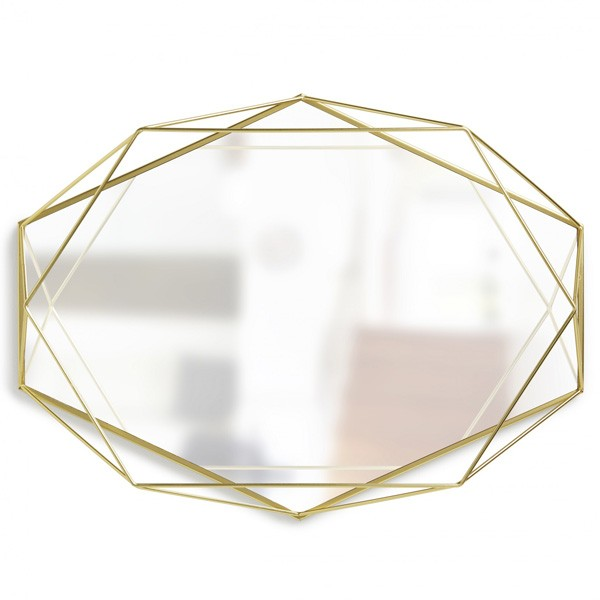 umbra prisma mirror brass geometrical outline mirror