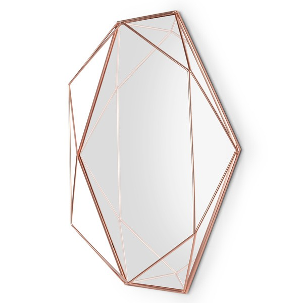 Umbra Prisma Mirror Copper Wire Frame Geometric Mirror
