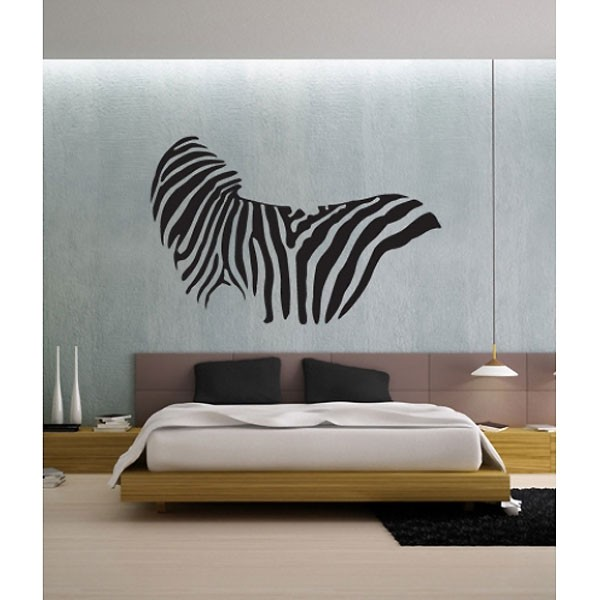 zebra print wall sticker animal wall sticker wall stickers brown 3d cat animal print home decor wall