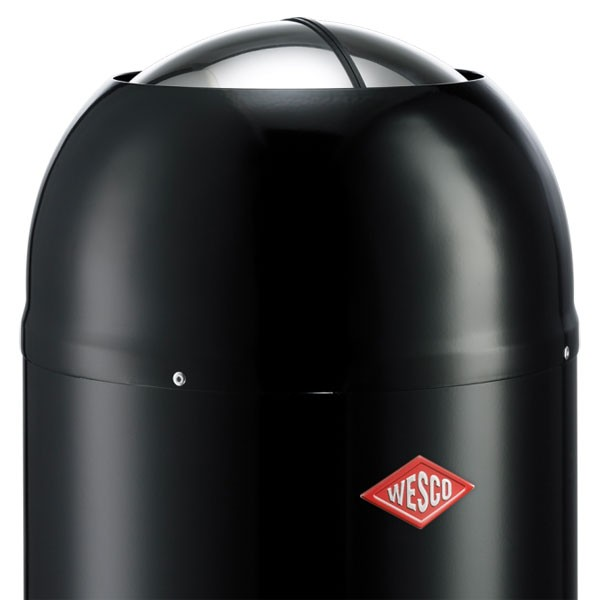 Designer Bathroom Bins wesco kickmaster bath bin - black designer bathroom pedal bin