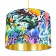 Tropical Jungle Drum Lampshade - Gold