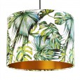 Tropical Lampshade - White & Gold