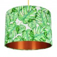 Tropical Monstera Lampshade - Copper