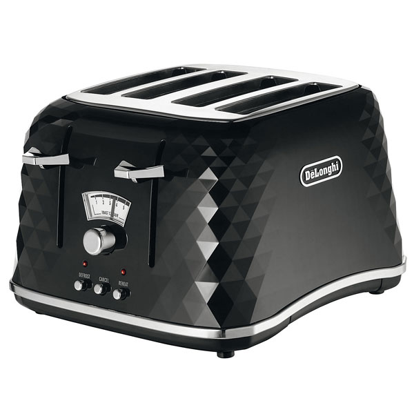 DeLonghi Brilliante 4 Slice Toaster  Black