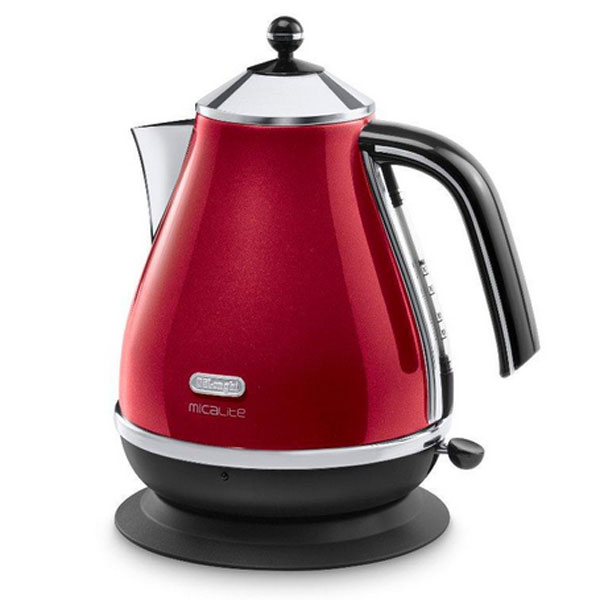 DeLonghi Icona Micalite Kettle  Pearlescent Red