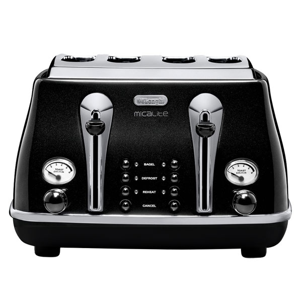 DeLonghi Icona Micalite Toaster  Pearlescent Black