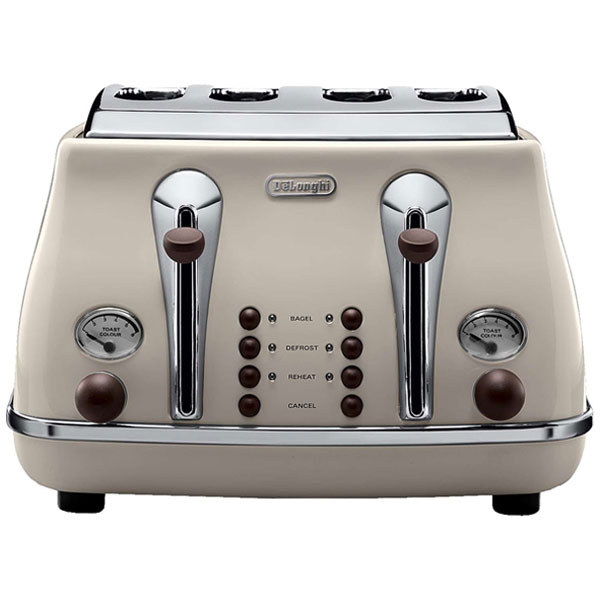 DeLonghi Icona Vintage Toaster - Beige Gloss - 50th gift