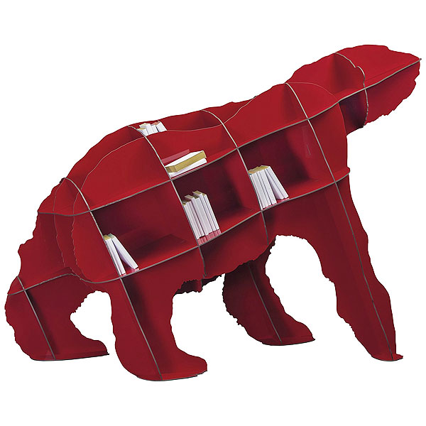 Ibride Bear Bookcase Joe - Red