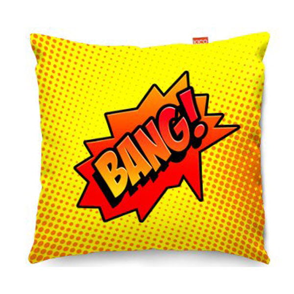 Comic Bang Yellow Sofa Cushion  2 Sizes