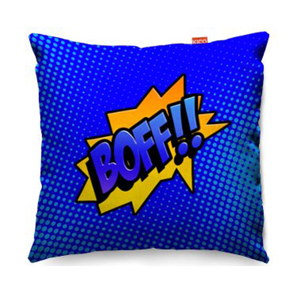 Comic Boff Blue Sofa Cushion  2 Sizes