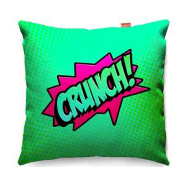 Comic Crunch Green Sofa Cushion  2 Sizes