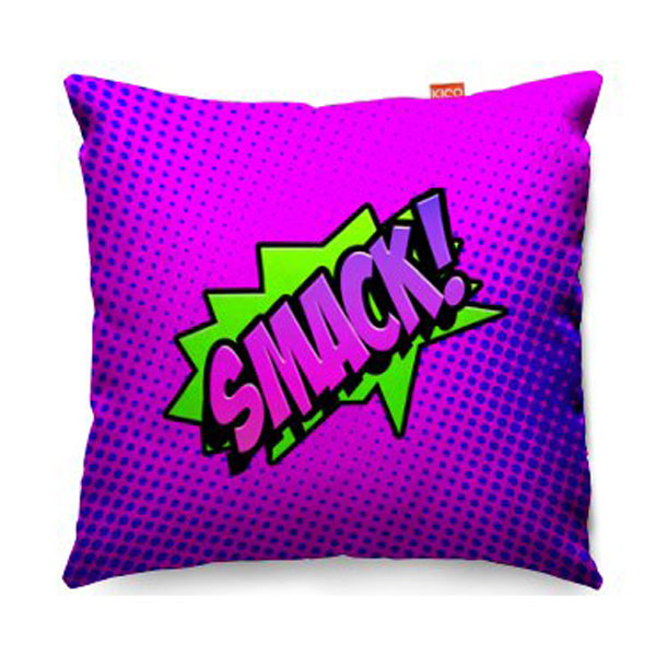 Comic Smack Purple Sofa Cushion  2 Sizes