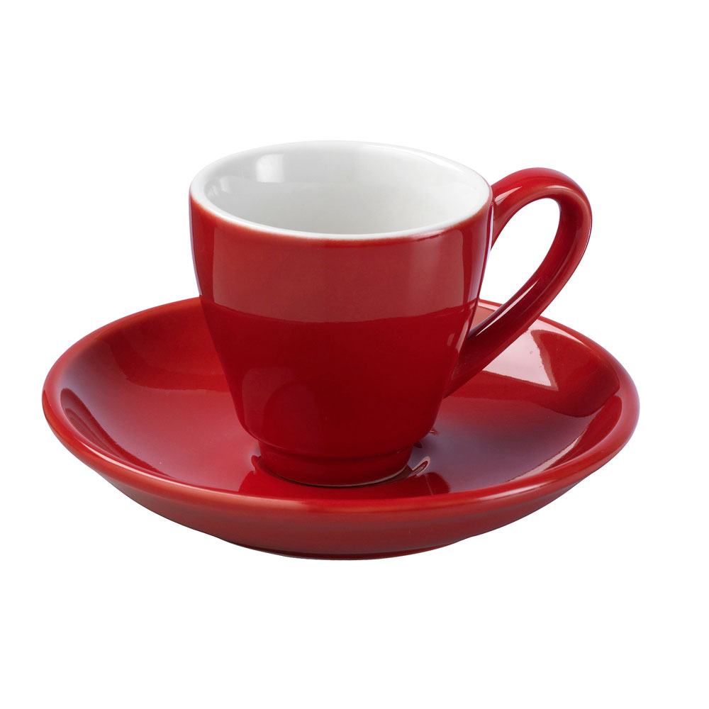 La Cafetiere Red Espresso Cup and Saucer