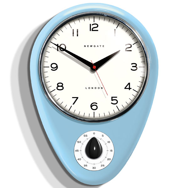 Newgate Discovery Kitchen Timer Clock  Egg Blue
